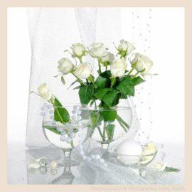 натюрморт белые розы