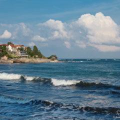 болгария несебр море волны