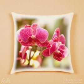подушка с фотопечатью, орхидеи
