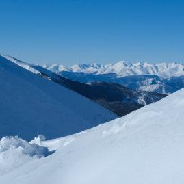 горы, пейзаж, зима