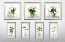 серия из семи натюрмортов белые розы