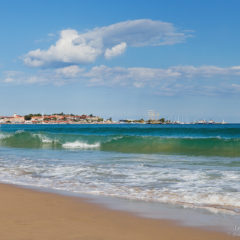 море, бирюзовая волна, болгария, несебр