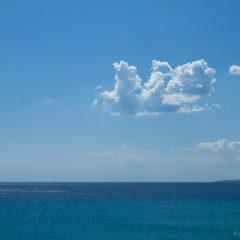 море небо и облако, горизонт
