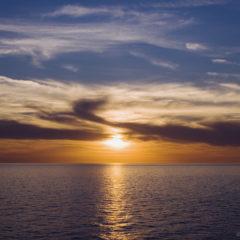 черное море, закат, вечер, солнце